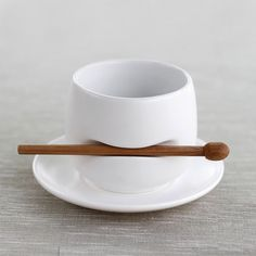Nice teacup with stirrer. Like the element of subtle humour in this one.