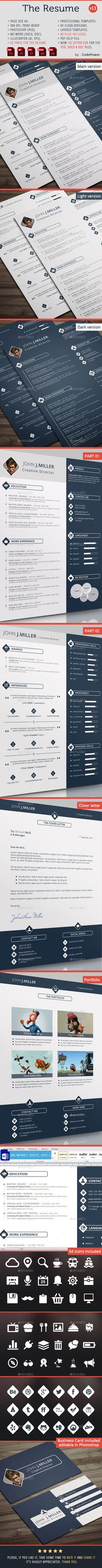 The Resume - #Resumes Stationery Download here: https://graphicriver.net/item/the-resume/8541648?ref=classicdesignp