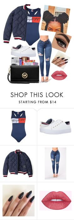 """⚪️tommy baby's"" by pimpdaddyroyalty ❤ liked on Polyvore featuring Tommy Hilfiger"