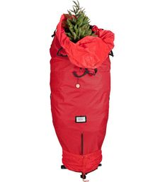 Store your Christmas tree in the off season with the Upright Christmas Tree Storage Bag. This storage bag can hold a tree up to 7 1/2 feet tall.