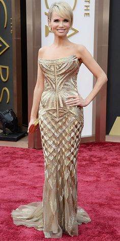 Oscars 2014 Red Carpet Arrivals - Kristin Chenoweth from #InStyle