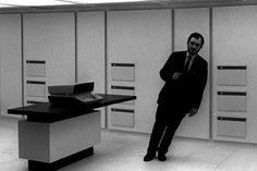 Stanley Kubrick on the 2001 set