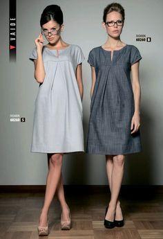 Vestidos y vestidos de lino: Ideas y . Simple Dresses, Beautiful Dresses, Casual Dresses, Fashion Dresses, Linen Dresses, Day Dresses, Summer Dresses, Fashion Sewing, Dress Patterns