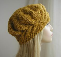 Weekend Cable Beret Tam Hat Knitting Pattern by Julia Marsh on Ravlery Knit Or Crochet, Crochet Hats, Double Pointed Knitting Needles, Knitting Patterns, Crochet Patterns, Knitted Beret, Easy Knitting, Knitting Daily, Knitting Accessories