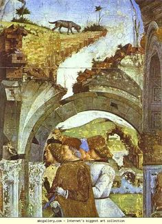 Detail from March from the Cycle of the Months - : Canvas Art, Oil Painting Reproduction, Art Commission, Pop Art, Canvas Painting Roman Gods, Free Art Prints, Oil Painting Reproductions, 15th Century, Hand Painting Art, Fresco, Canvas Art, March, Art Oil
