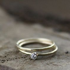 Six of our favorite handmade engagement rings by Andrea Bonelli Jewelry based in San Francisco, California. These eco-friendly rings offer Wedding Rings Simple, Unique Rings, Simple Rings, Handmade Engagement Rings, Diamond Engagement Rings, Gold Gold, Handmade Wedding, Statement Rings, Bridal Jewelry