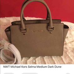 NWT MIchael Kors Selma Medium Dark dune Brand new guaranteed authentic Michael Kors bag. No Trade FIRM PRICE . Cheaper at MERC Michael Kors Bags Satchels