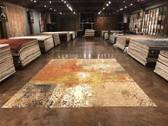 Handwoven modern rugs and oriental rugs. The human touch and countless hours spent perfecting each rug make them functional pieces of art. Area Rugs For Sale, Rug Sale, Oriental Carpet, Oriental Rugs, Contemporary Mugs, Factory Architecture, Tibetan Rugs, Afghan Rugs