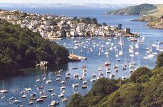 Gorgeous Fowey, Cornwall. Where I lived before here and want to show you too.    Yes take me and show me one of your favorite places. It looks amazing!!!