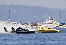Seattle Seafair.  I have been a volunteer on the lake for the races for over 25 years.