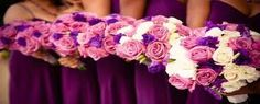 purple and pink wedding flowers - Google Search