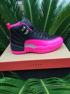 new style 8d7b8 1f6ea Women Air Jordan 12 Black Pink 36-40 Top Deals