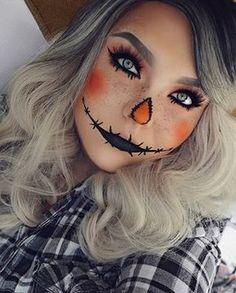 Esta linda espantalha. | 20 maquiagens lindas para experimentar neste Halloween