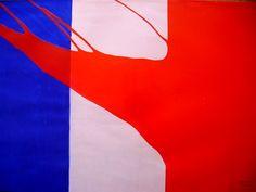 GERARD FROMANGER.  Le Rouge - Drapeau français (1970)