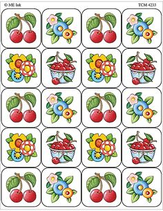 Cherries stickers by Mary Engelbreit