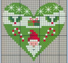 Points de croix *♥* Cross stitch Heart 8