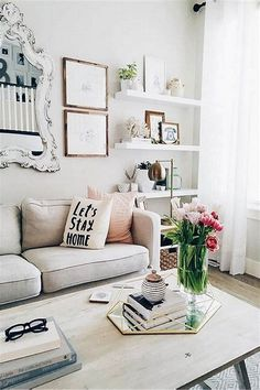 29 Brilliant Solution Small Apartment Living Room Decor Ideas And Remodel Casual Living Rooms, Ikea Living Room, Small Apartment Living, Small Apartment Decorating, Small Living Rooms, Living Room Designs, Modern Living, Apartment Ideas, Cheap Apartment
