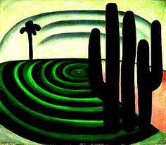 Distância (1928). Tarsila do Amaral (1886-1973). óleo sobre tela. Pinacoteca do Estado de São Paulo, Brasil.