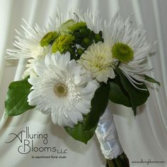stem bouquets | The Groom's Bout: A simple bout made with white button mums accented ...