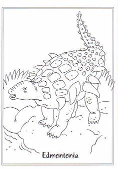 coloring page Dinosaurs 2 - Edmontonia