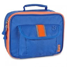 This blue lunchbox by Bixbee offers a fashionable, fun and safe way for your child to tote lunch and snacks!  The heavy-duty insulated main compartment keeps lunch fresh while the outer mesh pocket and front flap pocket offer easy access to snacks or trea