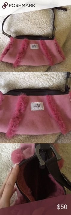 UGG SUNDANCE Suede/ Fur  BAGUETTE BAG I got this as a present years ago and never used it! In great condition! UGG Bags