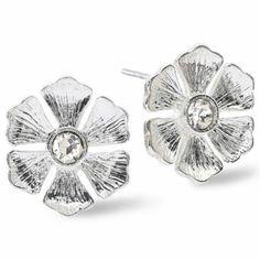 Monet® Silver-Tone Floral Earrings