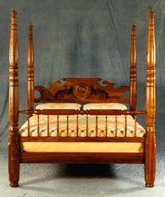 Hawaii Furniture Company Four Post Bed Made Of Koa Wood.