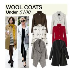 """Under $100: Wool Coats"" by polyvore-editorial ❤ liked on Polyvore featuring Wallis, Waverly Grey, H&M, under100 and woolcoats"