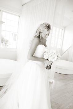 Wedding Dress: Vera Wang / Bride's Bracelets: Vintage / Bride's Earrings, Hair Combs + Veil: Vera Wang / Bride's Shoes: Jimmy Choo