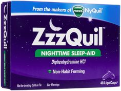 Fall asleep faster with ZzzQuil. It's comfortable and safe.