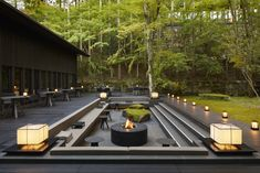 Our photo gallery lets you explore the beauty of Aman Kyoto, Japan. View our luxury rooms and pavilions & the stunning scenery on offer at Aman Kyoto. Japanese Site, Japanese Design, Japanese Geisha, Japanese Kimono, Kerry Hill Architects, Jardiniere Design, Terrasse Design, Casa Patio, Hidden Garden