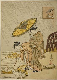Suzuki Harunobu, Ono no Komachi Praying for Rain