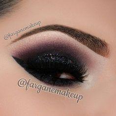 Smokey glitter eye