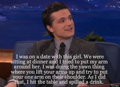 And he's adorably awkward.   10 Reasons To Fall In Love With Josh Hutcherson