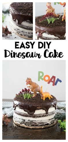 Cake: a simple and fun step by step tutorial to make you own dinosaur cake that is perfect for any dino lover! Dinosaur Cake: a simple and fun step by step tutorial to make you own dinosaur cake that is perfect for any dino lover! Dinosaur Cake Easy, Dino Cake, Dinosaur Birthday Cakes, Dinosaur Cakes For Boys, Dinosaur Dinosaur, Dinosaur Party Foods, Dinosaur Cake Tutorial, Dinosaur Cupcake Cake, 2nd Birthday Cake Boy