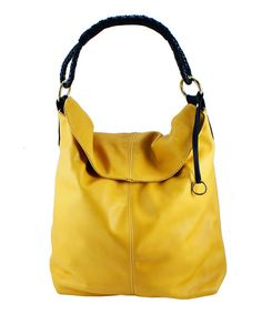 This Henri Lou Sun & Black Leather Tote by Henri Lou is perfect! #zulilyfinds