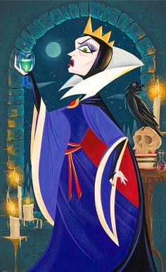 WonderGround Gallery - Collections by Disney Evil Disney, Disney Magic, Disney Fan Art, Disney Love, Disney Villains, Disney Pixar, Disney Princesses, Disney Queens, Disney Princess Snow White
