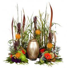 Outdoorsman Urn Arrangement Floral Arrangement for Sympathy