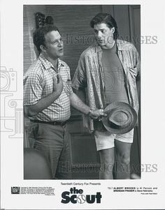 "1994 Press Photo Actor Albert Brooks, Brendan Fraser in ""The Scout"" Film 