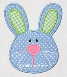 284 Boy Bunny  Machine Embroidery Applique by AppliqueCafeDesigns, $4.00