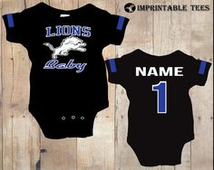 Football Detroit Lions Bodysuit on Etsy, $20.00