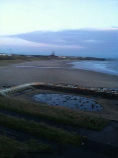 Tynemouth long sands beach 7.30 am Thursday 13 th February 2014 .#tynemouth