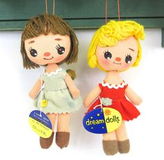 RESERVED FOR RAQUELLE Doll Ornaments from R. Dakin Company with Original Tags…