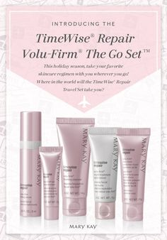 Away from home for the holidays? Replenish skin's vital moisture with our TimeWise® Repair Travel Set. | Mary Kay