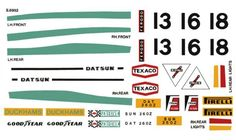 Scalextric decal sheet Datsun 260Z