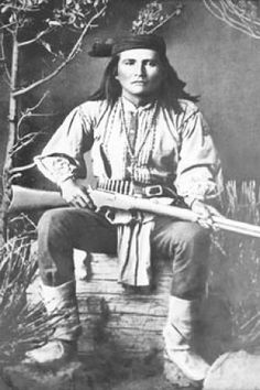 Alchise (aka Alchesay), 1853-1928, chief of the White Mountain Apache (Western Apache) tribe and an Indian Scout. He tried to convince Geronimo to surrender peacefully and remained friend with Geronimo until his death. After the wars were over he became a rancher and was active in Indian affairs. http://en.wikipedia.org/wiki/William_Alchesay