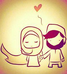 Pin by akram önly my ñame iz enøugh! 😎😎😘😘 on muslim couple! Cute Muslim Couples, Cute Couples, Hijabs, Islam Marriage, Islamic Cartoon, Muslim Family, Anime Muslim, Hijab Cartoon, Love In Islam