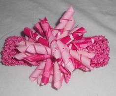 Pink Chevron Korker Crochet Headband by mlmissal on Etsy, $6.00