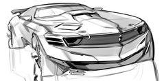 Car design sketches #6 on Behance  자동차 스케치에서도 다양한 모습을 그려봐야하기때문에 납작해보이는 자동차를 골랐다 정교하다기보단 빨리 그리는연습에 좋아보인다